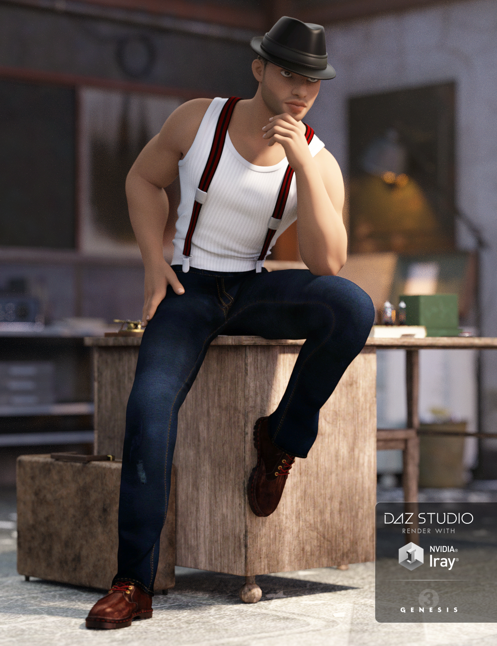 Iconic Outfit for Genesis 3 Male(s) by: MadaShanasSoulmate, 3D Models by Daz 3D