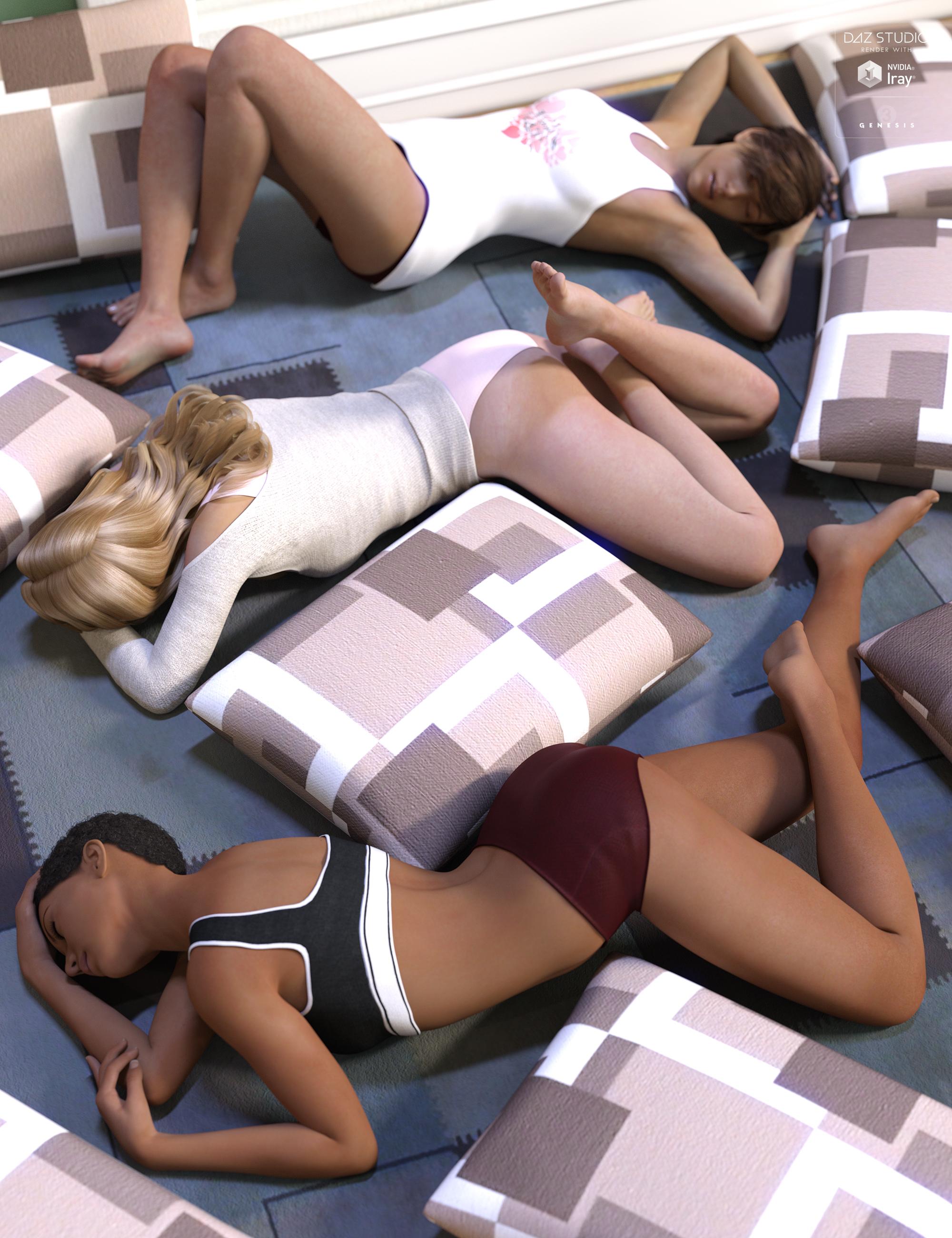 Bed Hogs by: Devon, 3D Models by Daz 3D