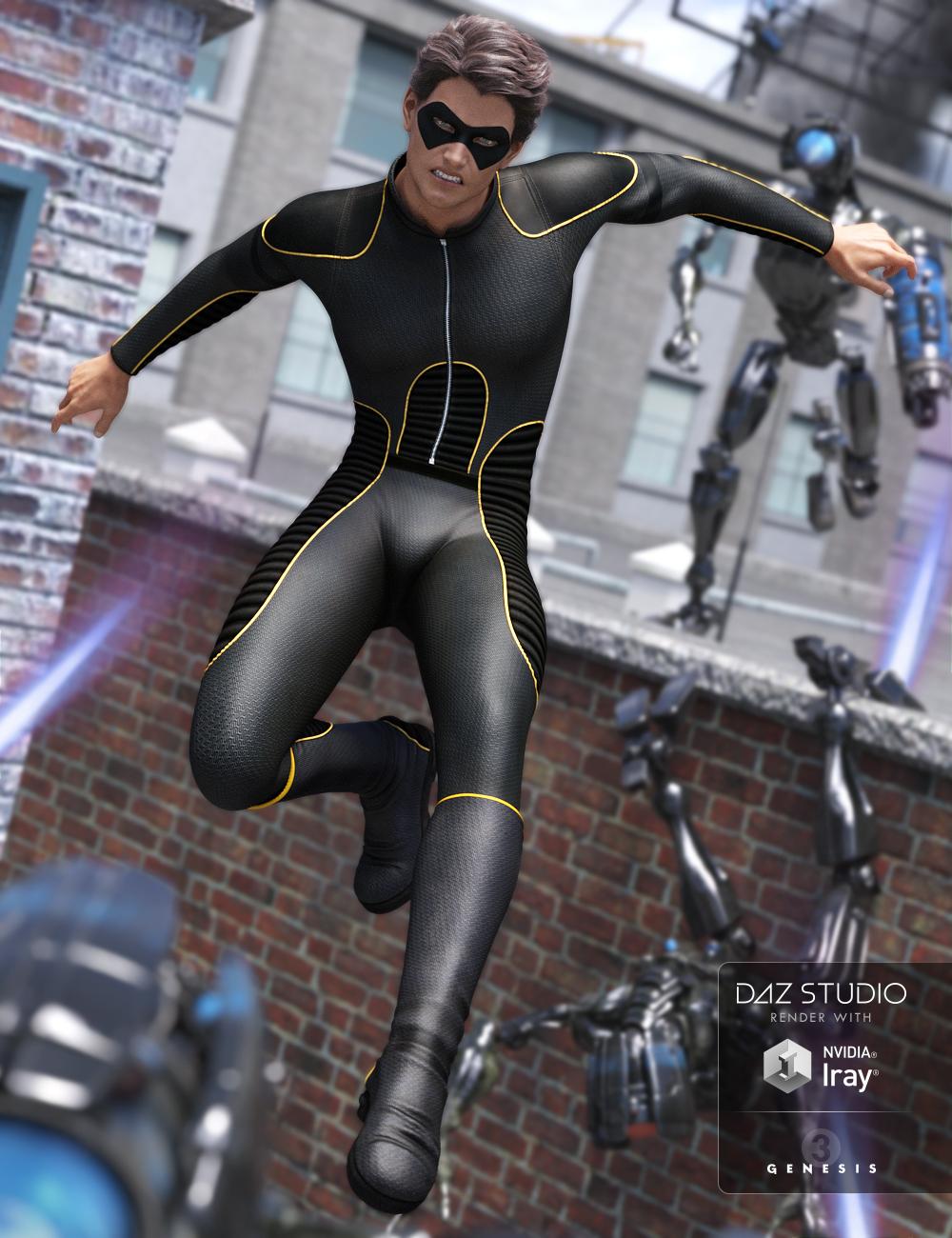Super Bodysuit for Genesis 3 Male(s) by: ArienMada, 3D Models by Daz 3D