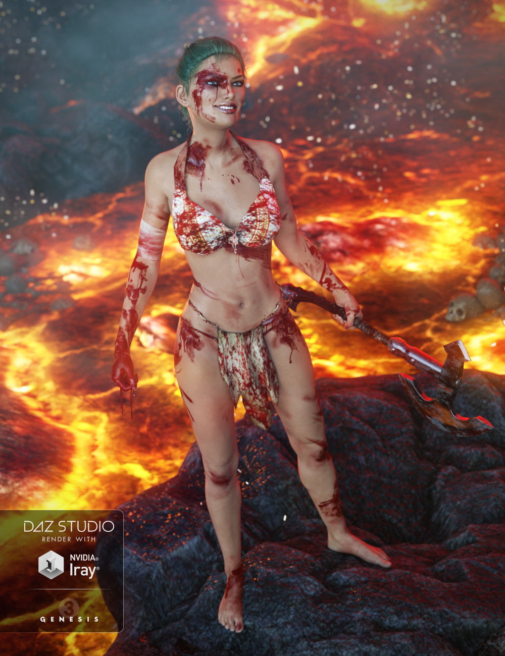Additional Blood Layers for Genesis 3 Female(s) by: AlFan, 3D Models by Daz 3D