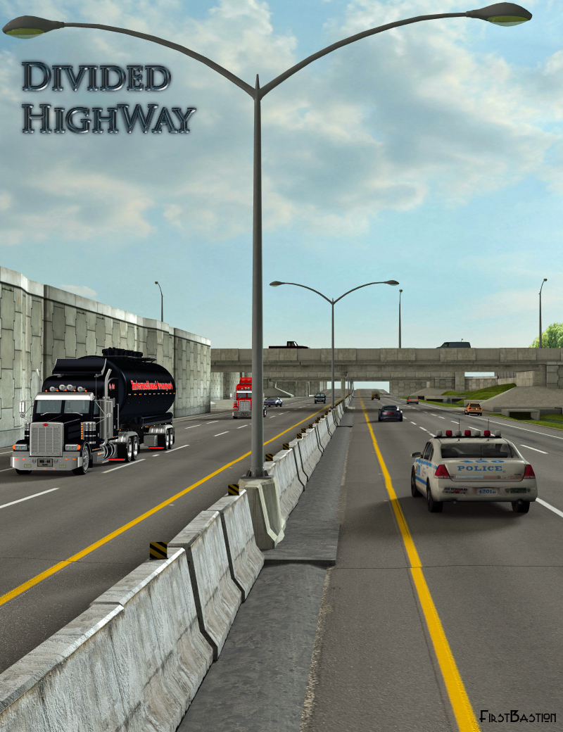 Divided Highway by: FirstBastion, 3D Models by Daz 3D