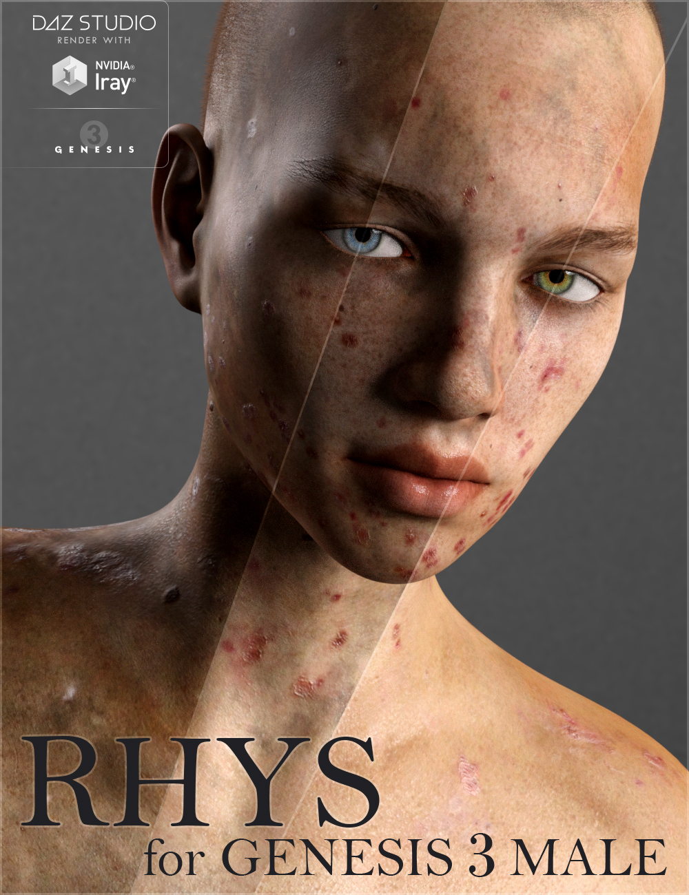Rhys for Genesis 3 Male by: Saiyaness, 3D Models by Daz 3D