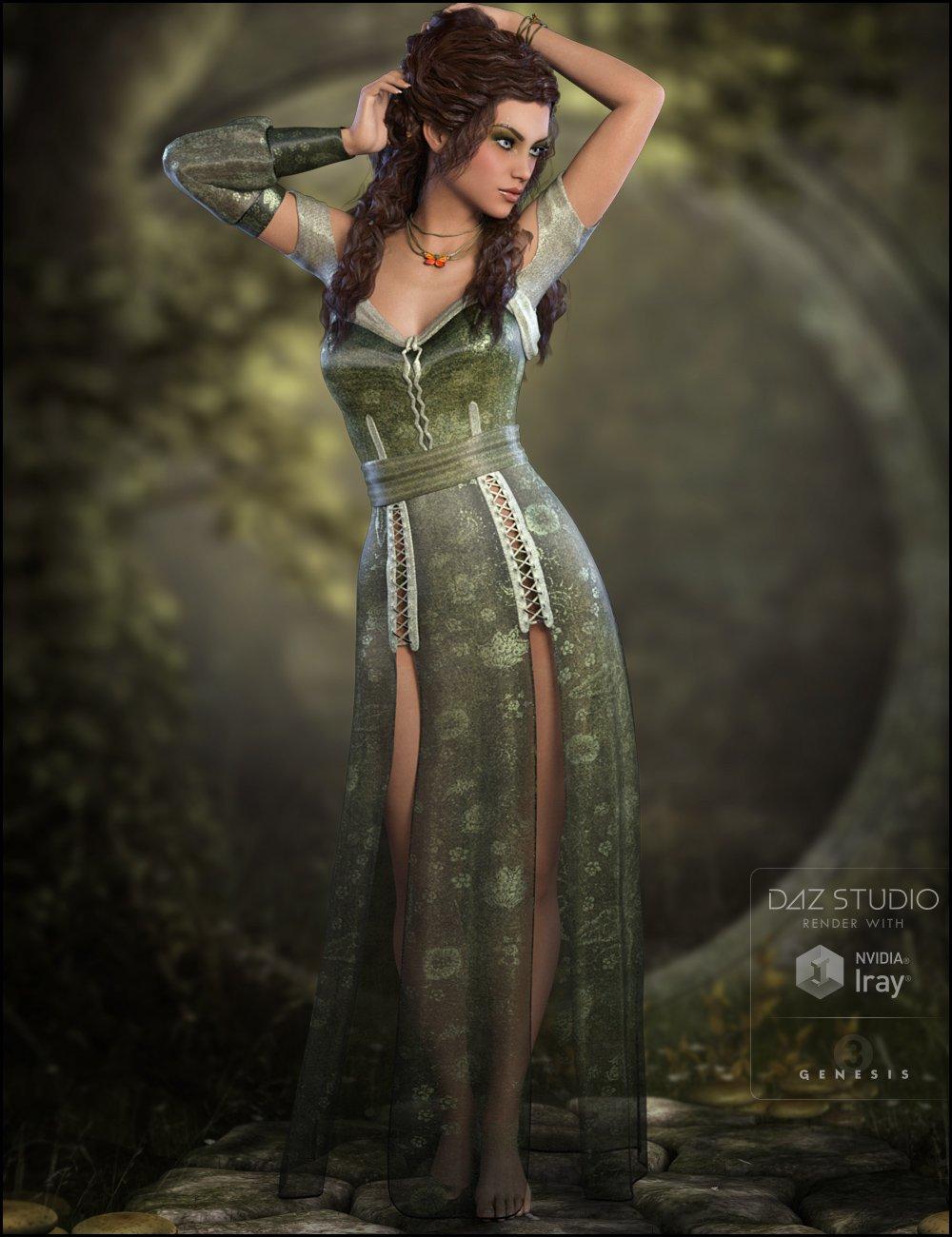 Lothriel Outfit for Genesis 3 Female(s) by: WildDesignsJessaii, 3D Models by Daz 3D