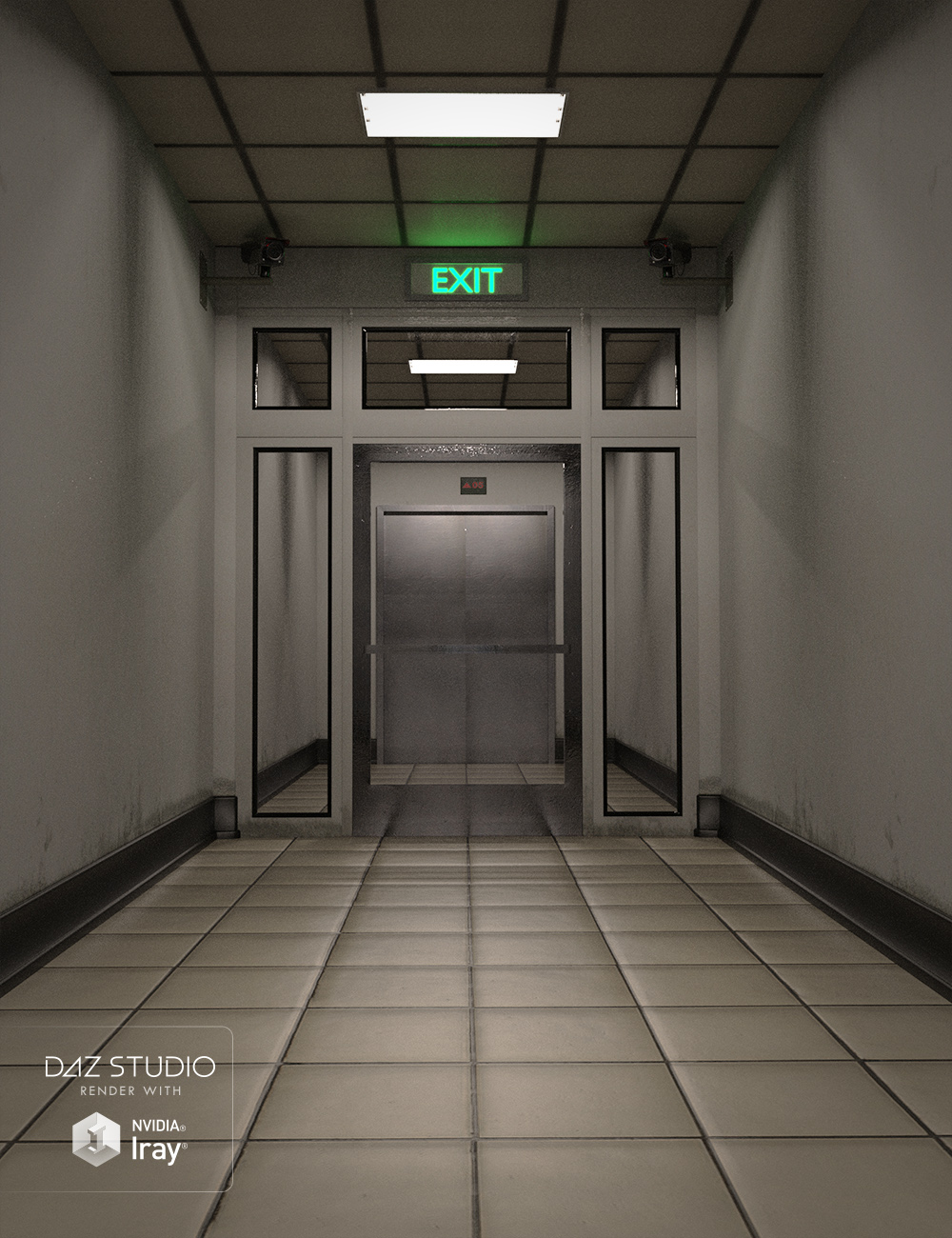 Restricted Corridor by: , 3D Models by Daz 3D