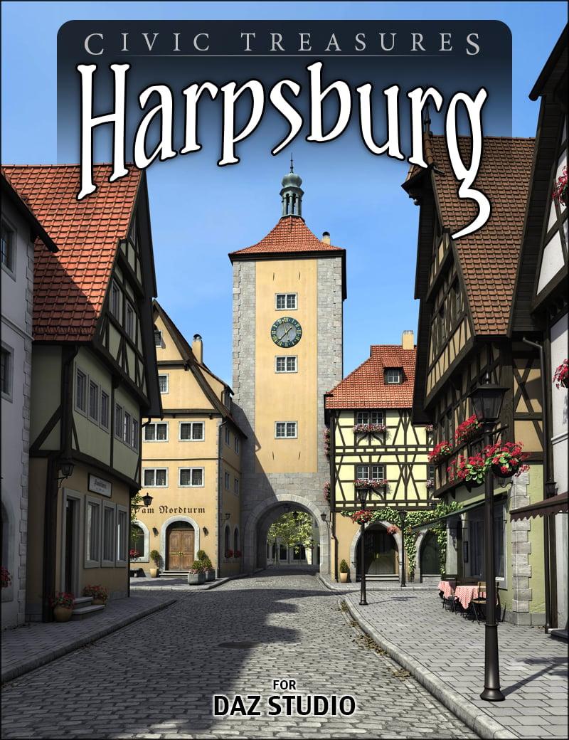 Harpsburg for Daz Studio by: HowieFarkes, 3D Models by Daz 3D