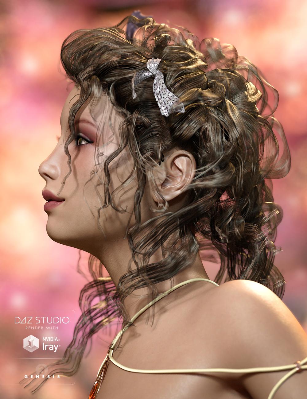 Crazy Hair for Genesis 3 Female(s) by: goldtassel, 3D Models by Daz 3D