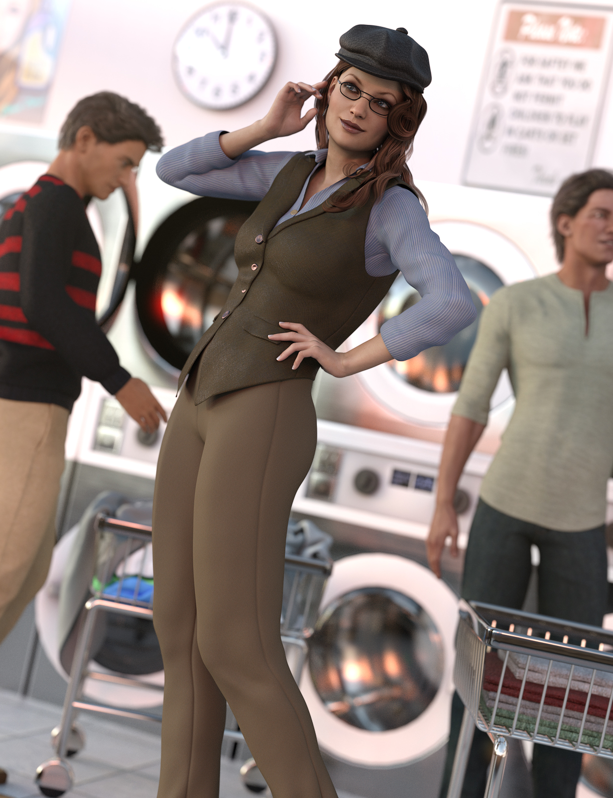 Casual Style for Genesis 3 Female(s) by: Ravenhair, 3D Models by Daz 3D