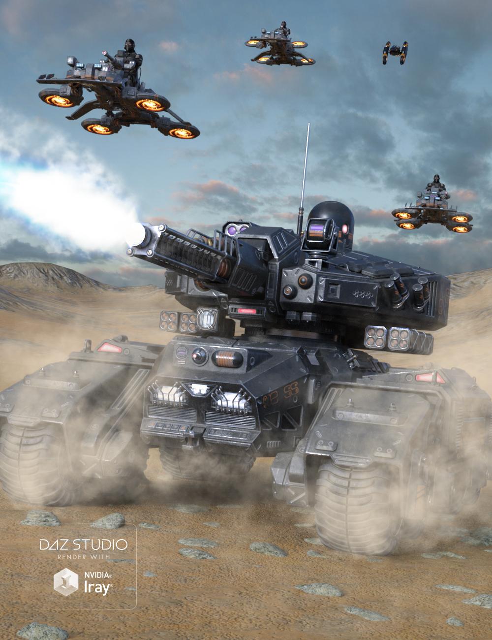 Sci-fi Tank by: petipet, 3D Models by Daz 3D