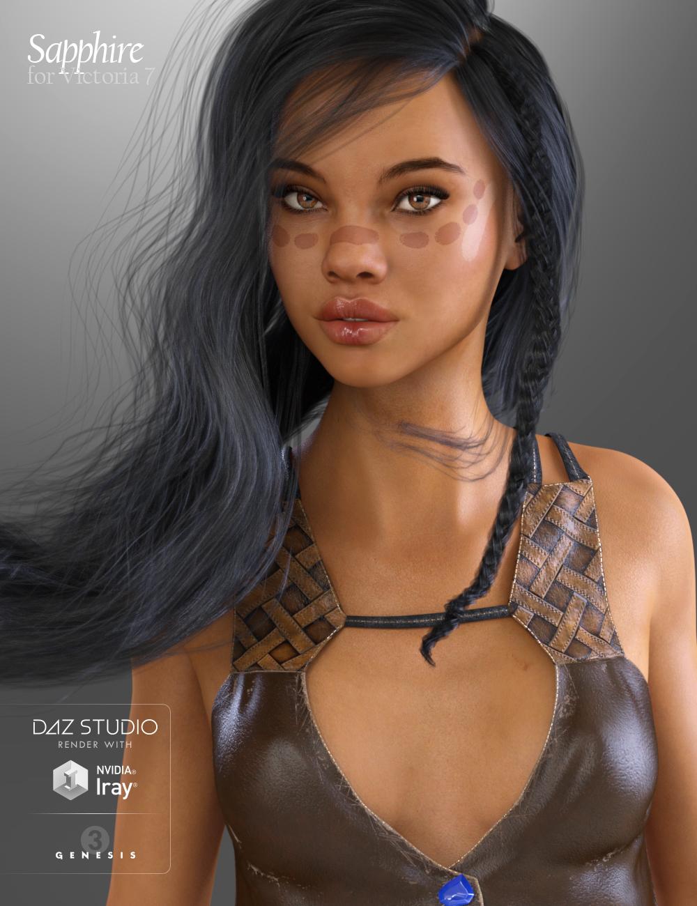Sapphire HD for Victoria 7 by: Raiya, 3D Models by Daz 3D