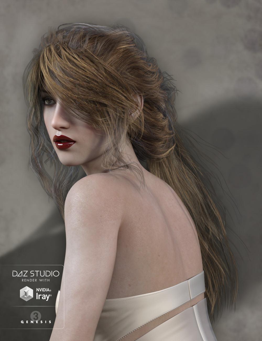 Legacie Hair for Genesis 2 Female(s), Genesis 3 Female(s) and Victoria 4 by: goldtassel, 3D Models by Daz 3D