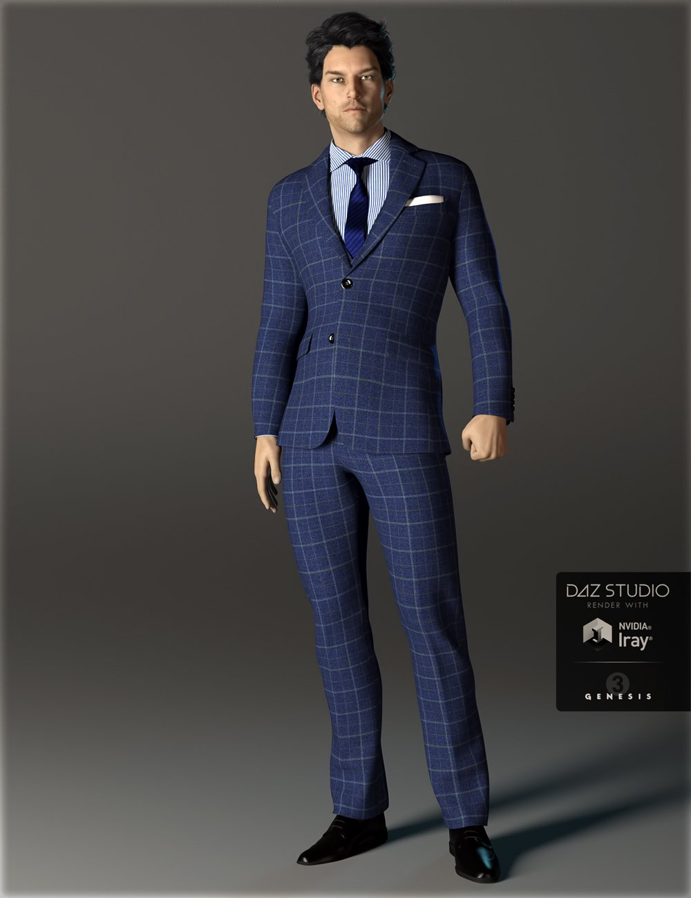 H&C Business Suit A for Genesis 3 Male(s) by: IH Kang, 3D Models by Daz 3D