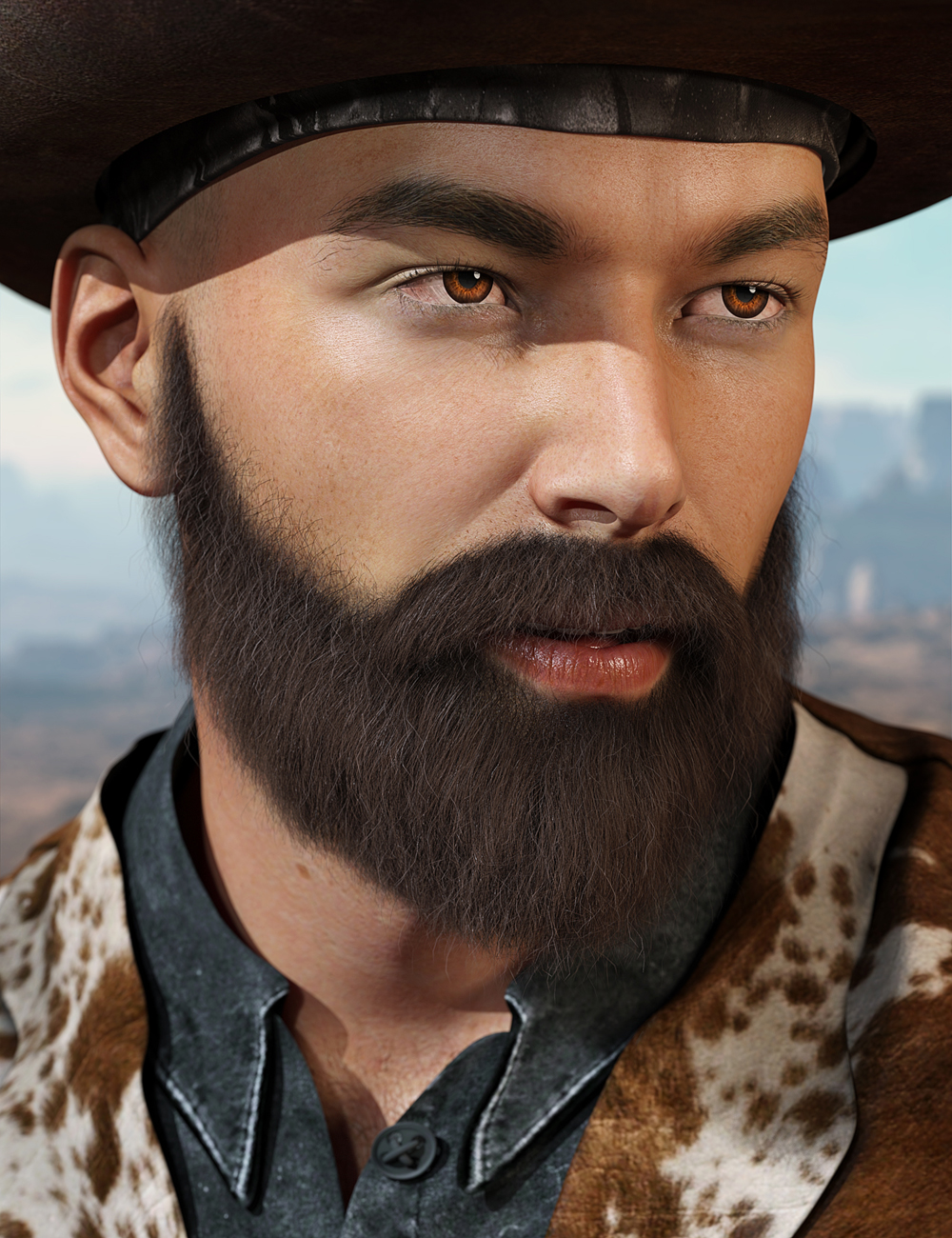 Whiskers for Genesis 3 Male(s) by: Laticis Imagery, 3D Models by Daz 3D