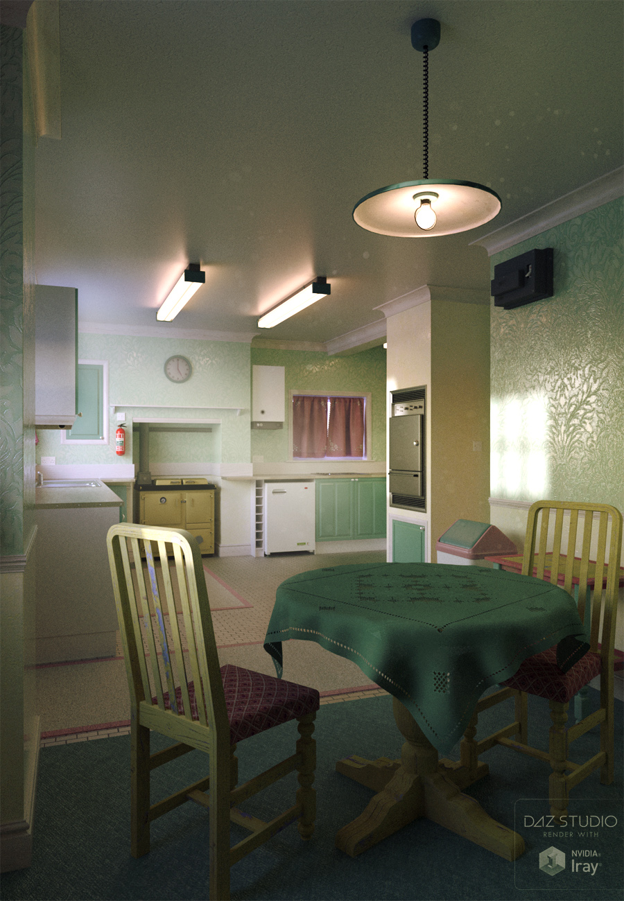 Shabby Chic Kitchen by: ForbiddenWhispersDavid Brinnen, 3D Models by Daz 3D