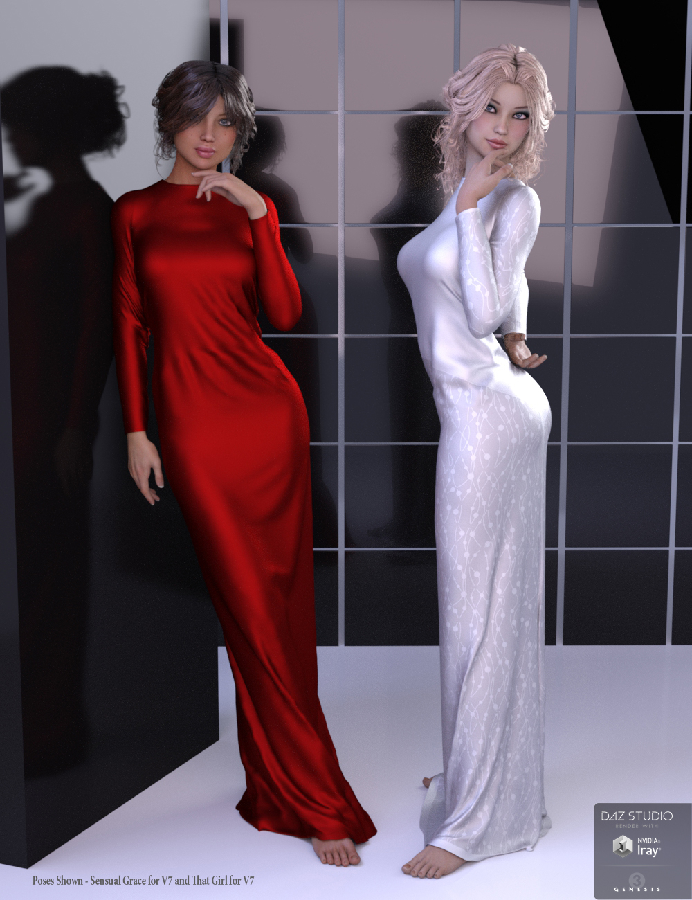 Bella Donna Dress for Genesis 3 Female(s) by: PandyGirl, 3D Models by Daz 3D