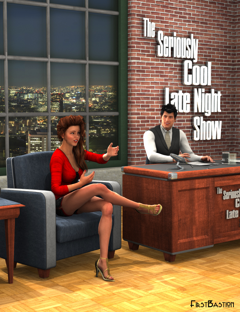 Talk Show - Late Night Set and Poses by: FirstBastion, 3D Models by Daz 3D