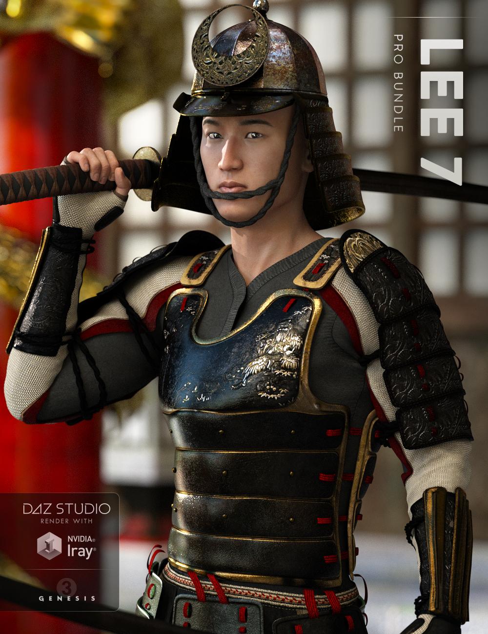 Lee 7 Pro Bundle by: , 3D Models by Daz 3D
