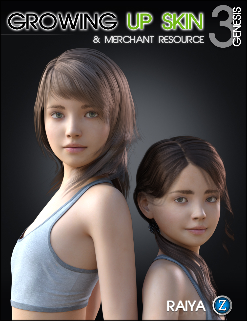Growing Up Skin for Genesis 3 Female(s) by: Zev0Raiya, 3D Models by Daz 3D