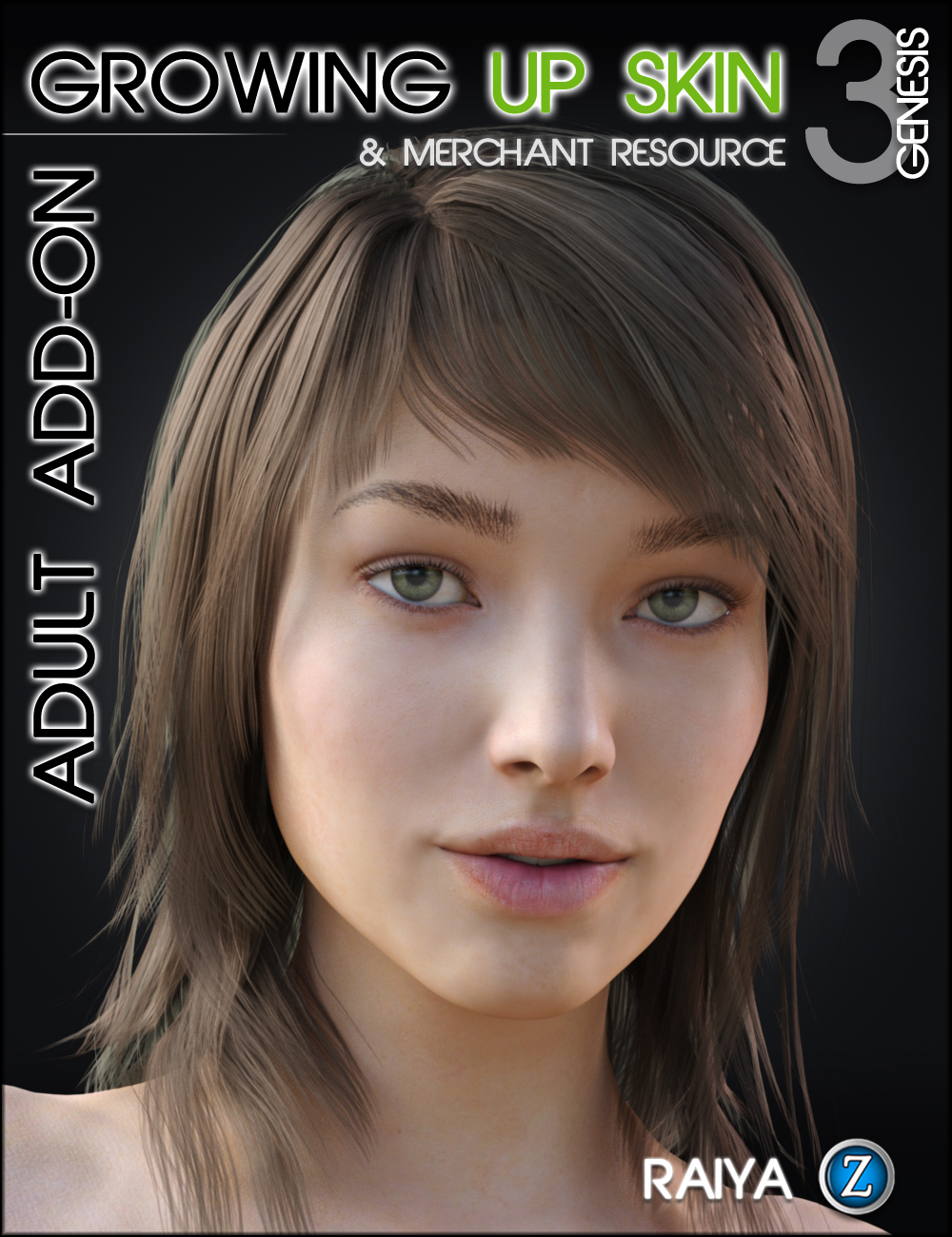Growing Up Skin for Genesis 3 Female(s) Adult Add-on by: RaiyaZev0, 3D Models by Daz 3D