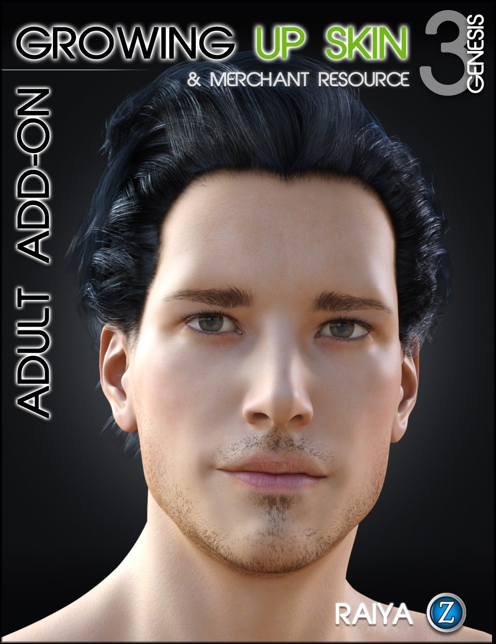 Growing Up Skin for Genesis 3 Male(s) Adult Add-on by: RaiyaZev0, 3D Models by Daz 3D