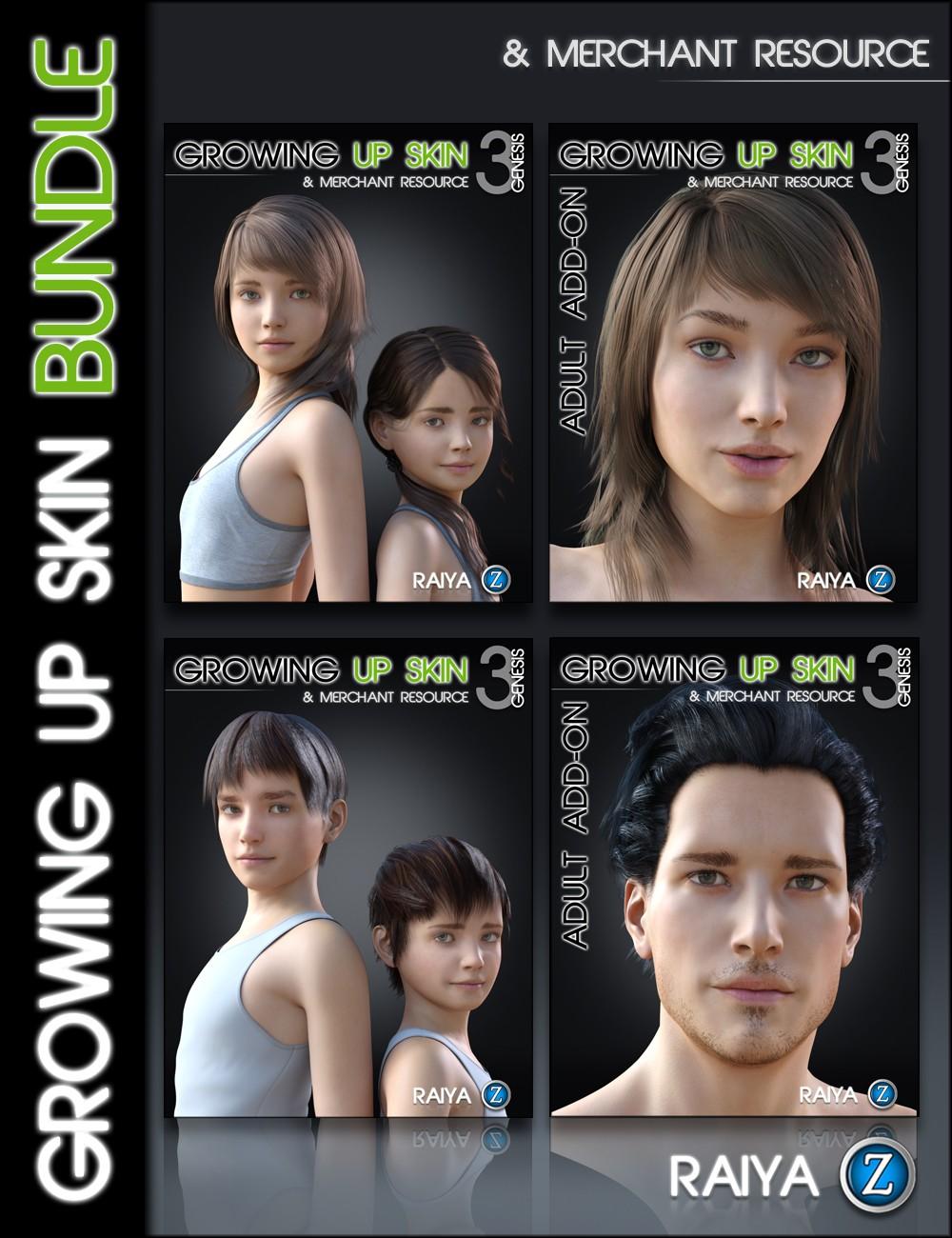 Growing Up Skin Bundle for Genesis 3 by: Zev0Raiya, 3D Models by Daz 3D