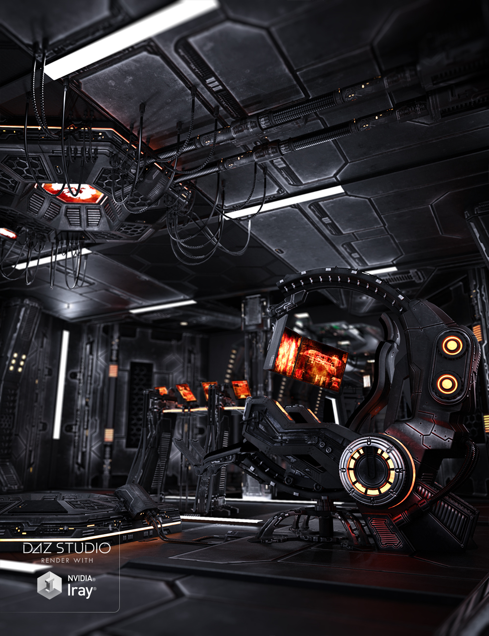 Marcoor Control Room Aged by: Ravnheart, 3D Models by Daz 3D