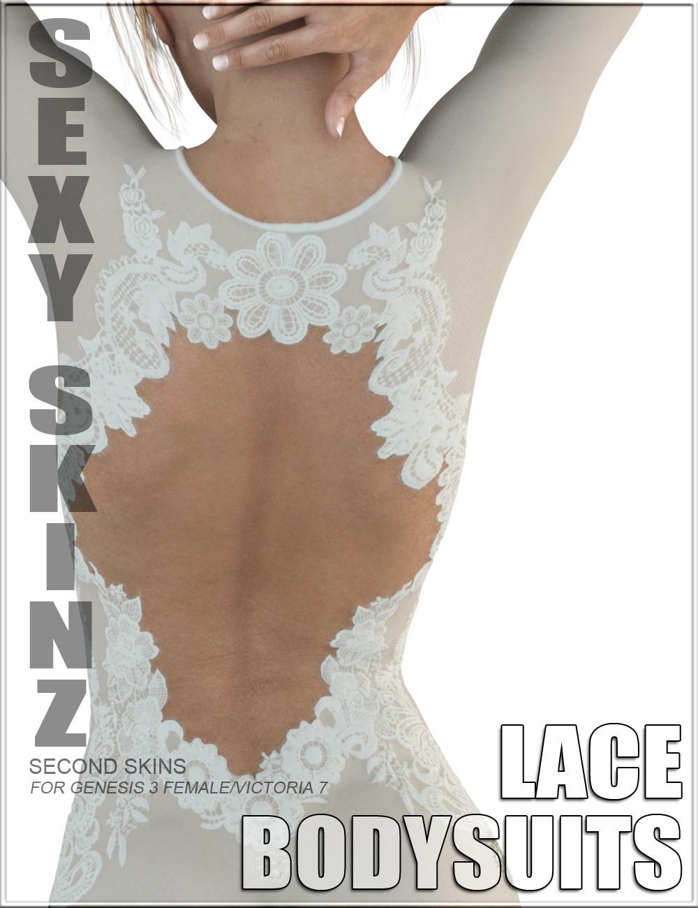 Sexy Skinz - Lace Bodysuits for Genesis 3 Female(s) by: vyktohria, 3D Models by Daz 3D