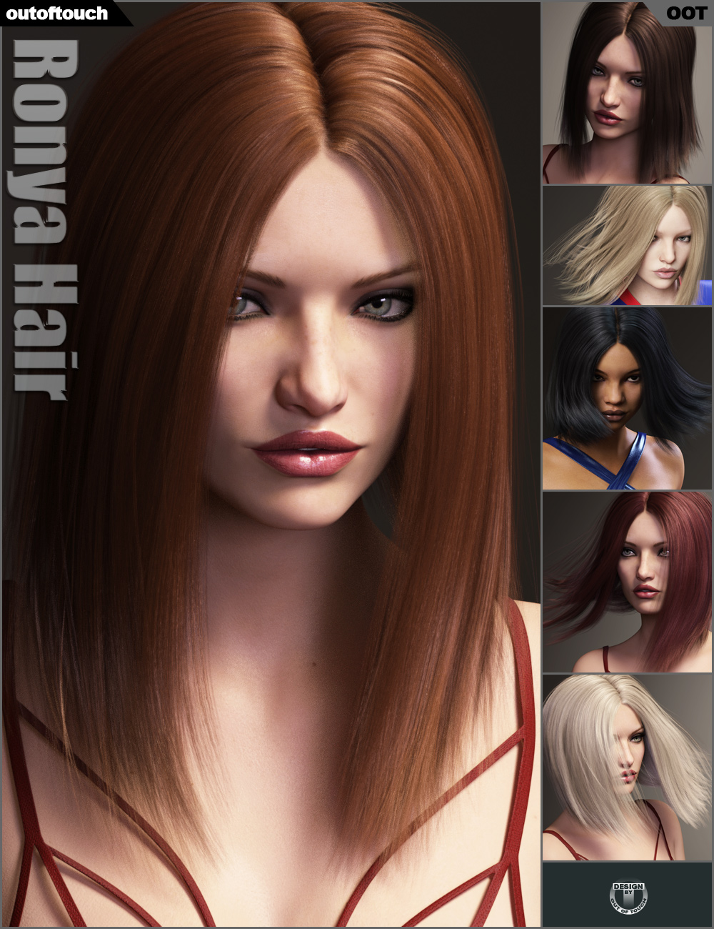 Ronya Hair by: outoftouch, 3D Models by Daz 3D