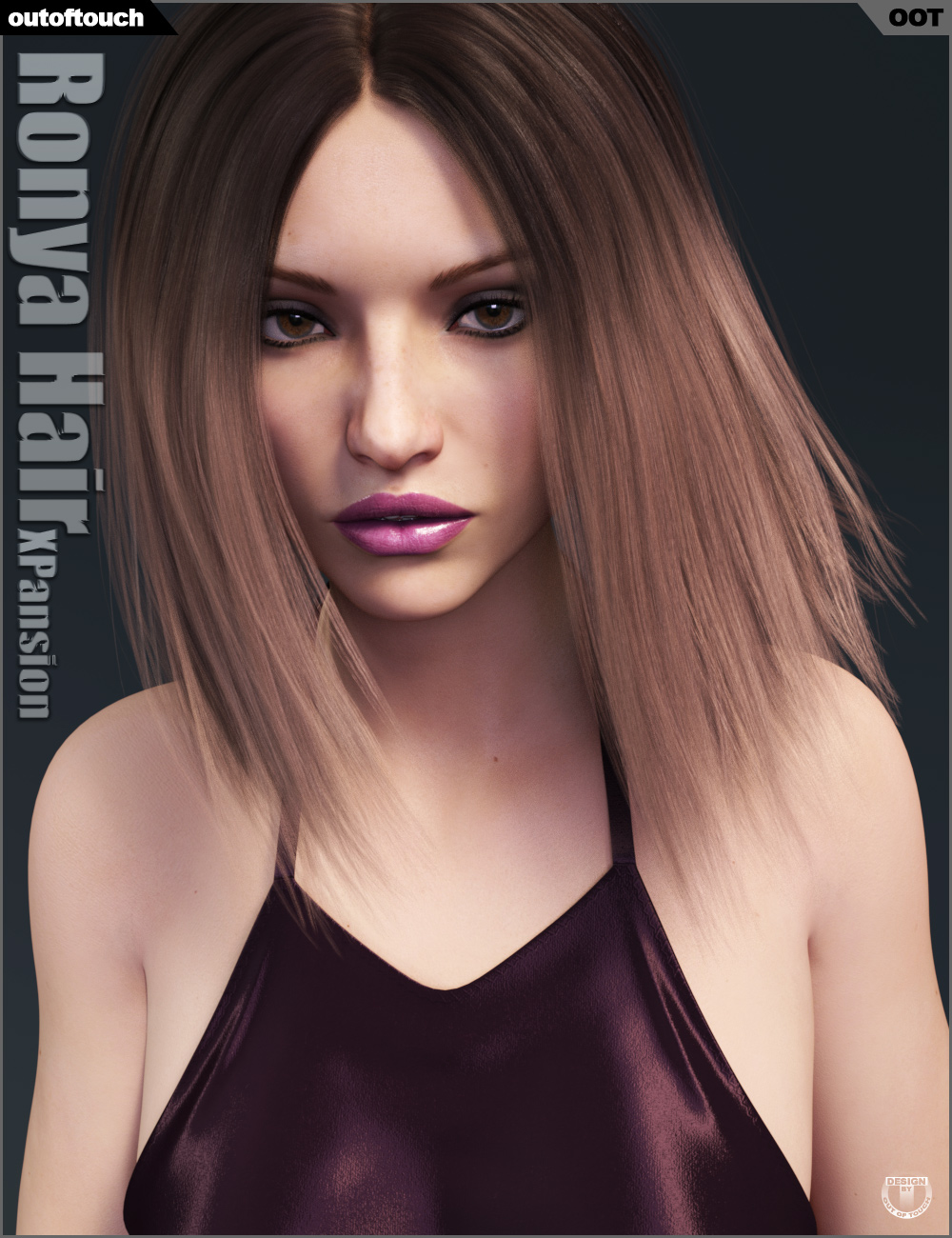 Ronya Hair Iray Texture XPansion by: outoftouch, 3D Models by Daz 3D