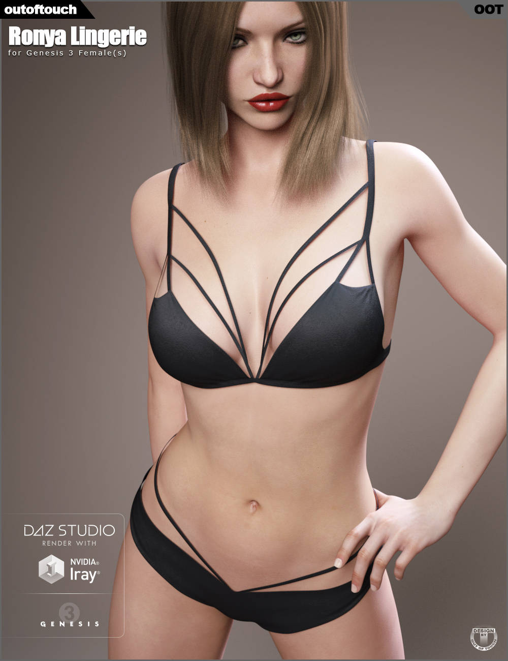 Ronya Lingerie for Genesis 3 Female(s) by: outoftouch, 3D Models by Daz 3D