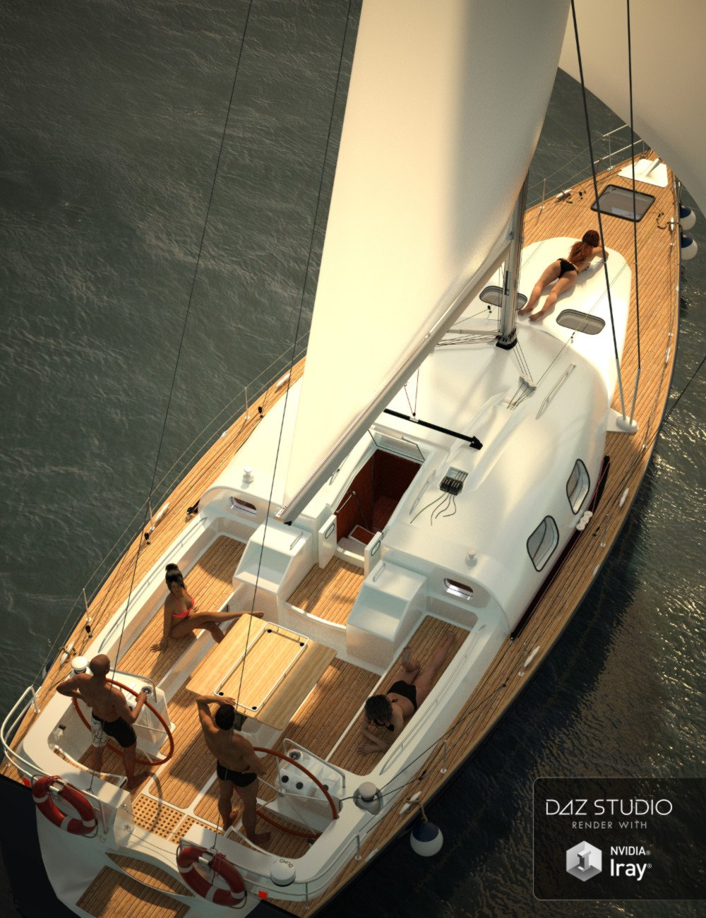 Sailboat by: Mely3D, 3D Models by Daz 3D