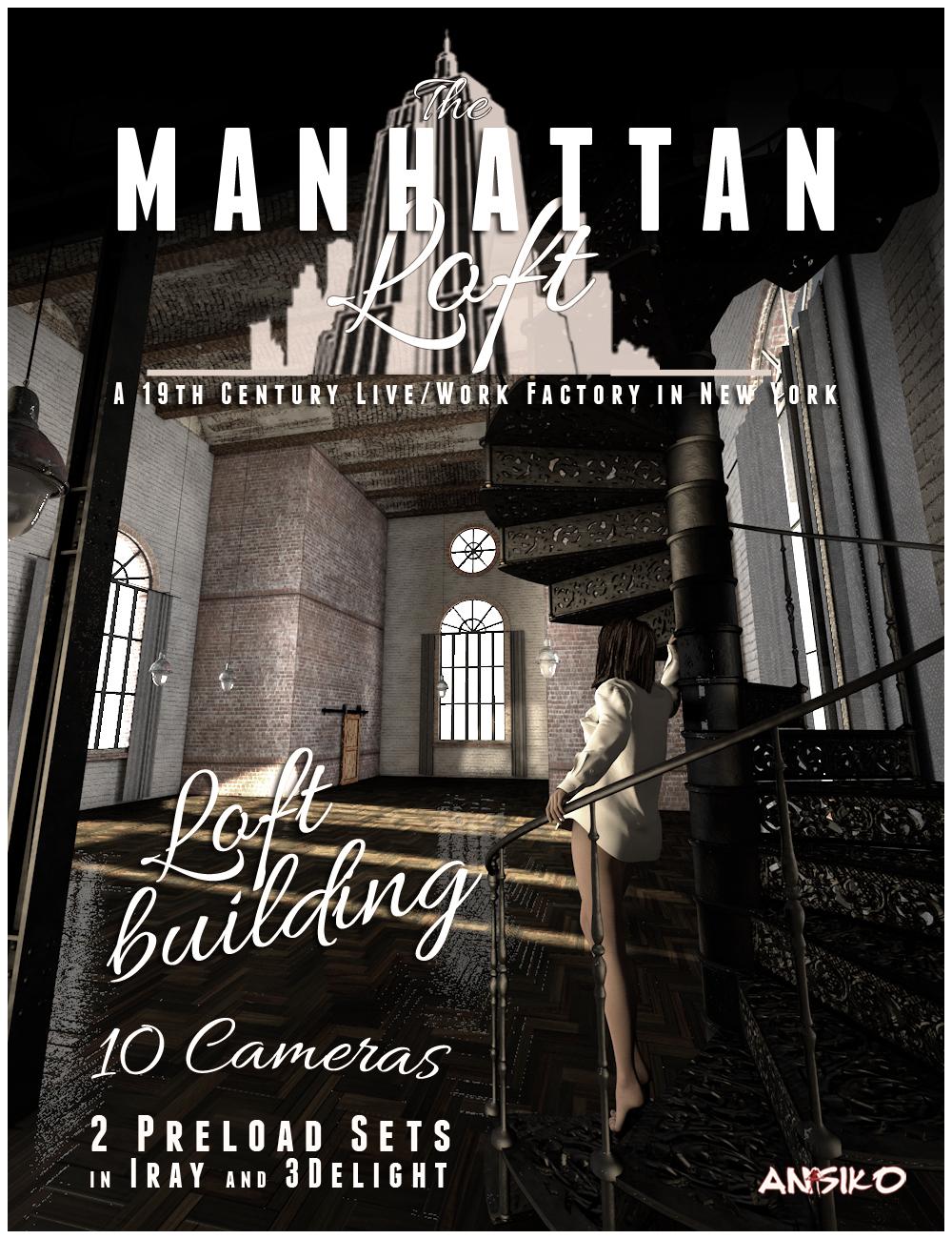 Manhattan Loft by: Ansiko, 3D Models by Daz 3D