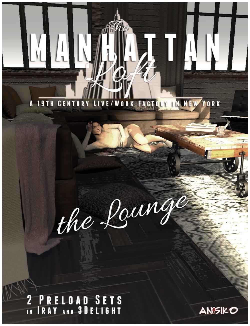Manhattan Loft: Lounge Furniture Expansion by: Ansiko, 3D Models by Daz 3D