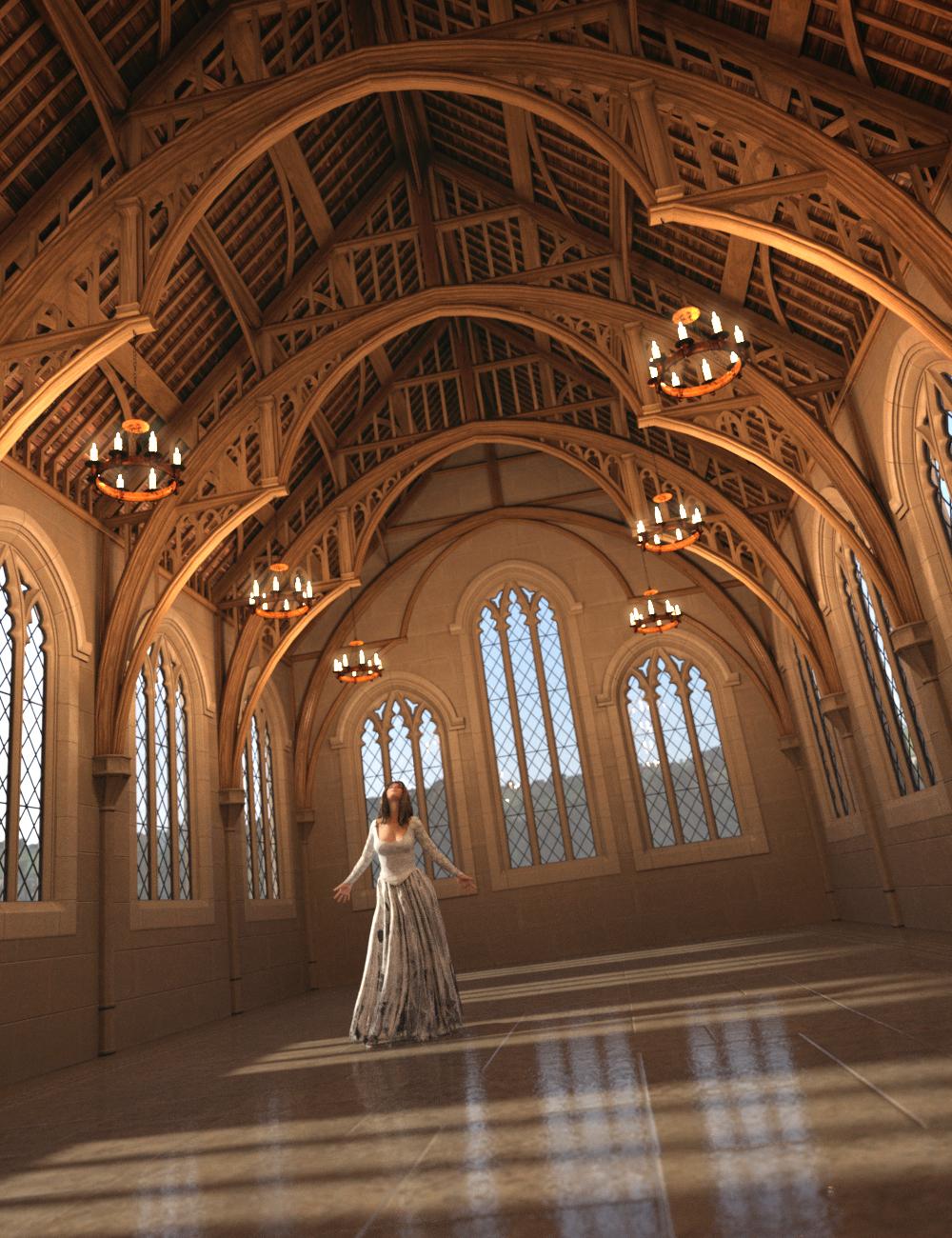 Ash Tree Hall by: Merlin Studios, 3D Models by Daz 3D