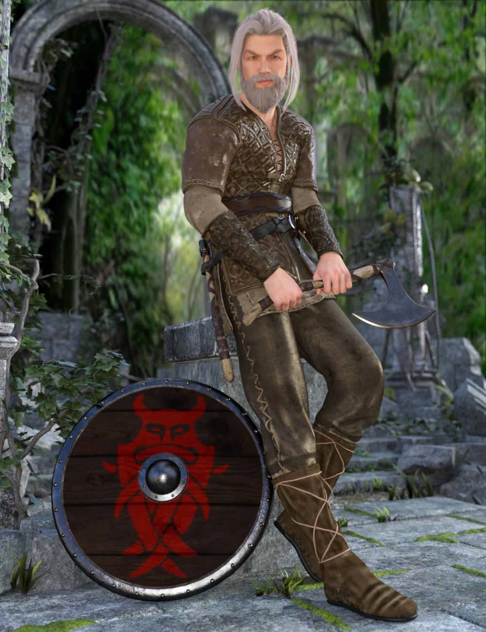 Nordic Warrior for Genesis 3 Male(s) by: Larisha, 3D Models by Daz 3D