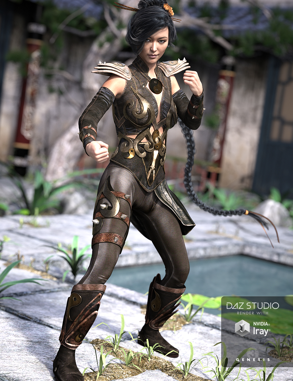 Mercurial Guardian Outfit for Genesis 3 Female(s) by: NikisatezSarsa, 3D Models by Daz 3D