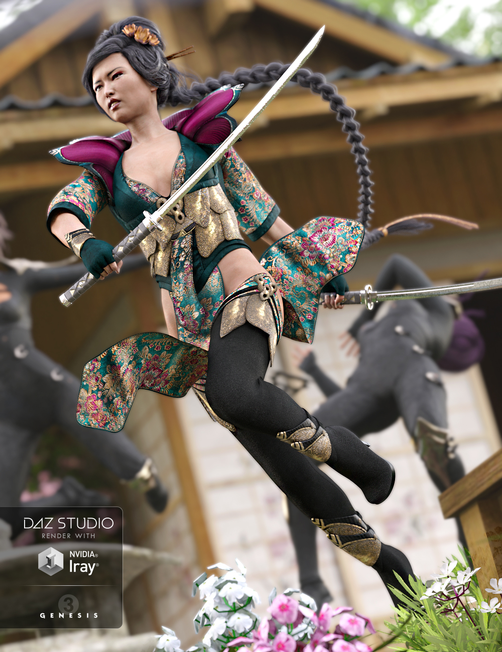 Lotus Maiden Outfit for Genesis 3 Female(s) by: NikisatezSarsa, 3D Models by Daz 3D