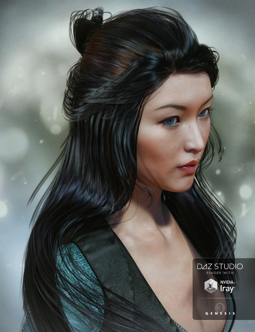 Ohara Hair for Genesis 3 Female(s) by: goldtassel, 3D Models by Daz 3D