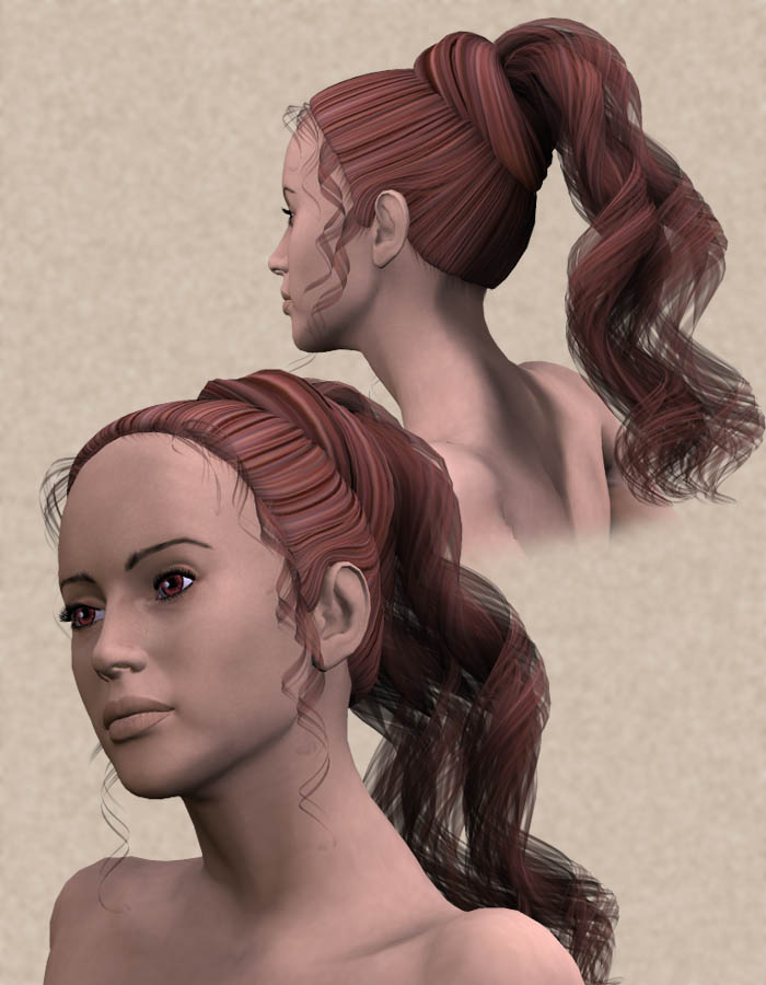 Dancer Hair by: Lady LittlefoxRuntimeDNA, 3D Models by Daz 3D