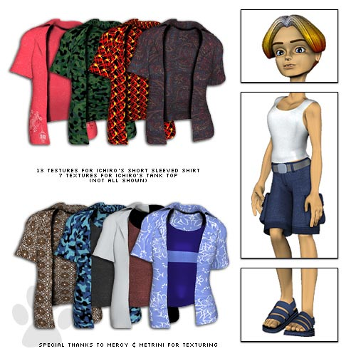 Ichiro Clothing Pack 1 - Skaterboy by: Lady LittlefoxRuntimeDNA, 3D Models by Daz 3D