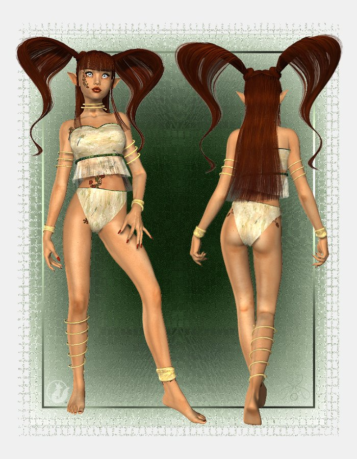 Sherri Hair for A3, SP3, V3 and L3 by: Lady LittlefoxCapsces Digital InkRuntimeDNA, 3D Models by Daz 3D