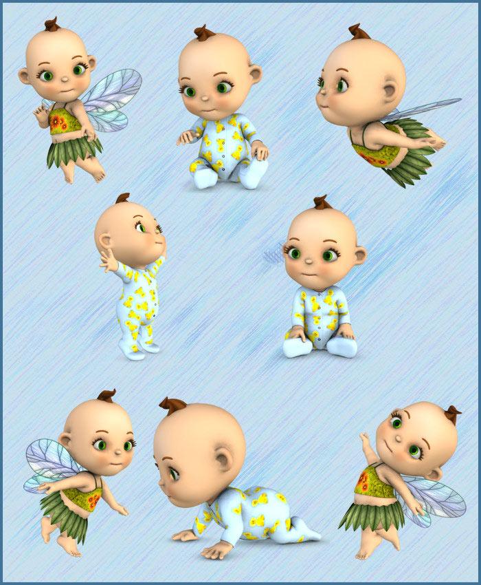 IGD Toon Baby Poses by: IslandgirlRuntimeDNA, 3D Models by Daz 3D
