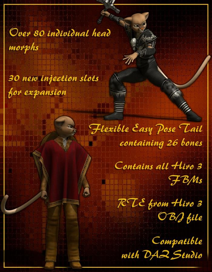 Micah for H3 by: RedSparkLady LittlefoxRuntimeDNA, 3D Models by Daz 3D