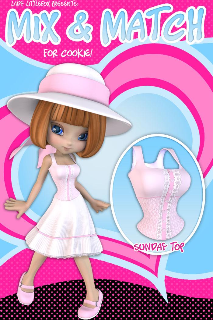 Cookie Mix and Match: Sunday Shirt by: Lady LittlefoxRuntimeDNA, 3D Models by Daz 3D