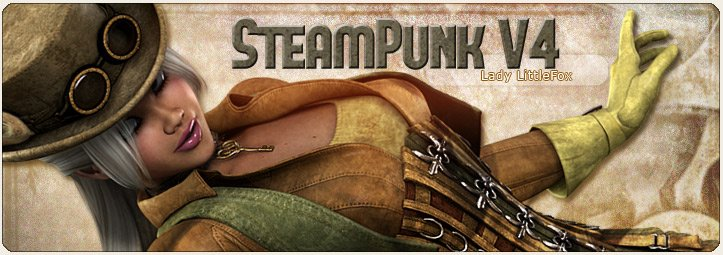 SteamPunk Outfit for V4 by: Lady LittlefoxRuntimeDNA, 3D Models by Daz 3D