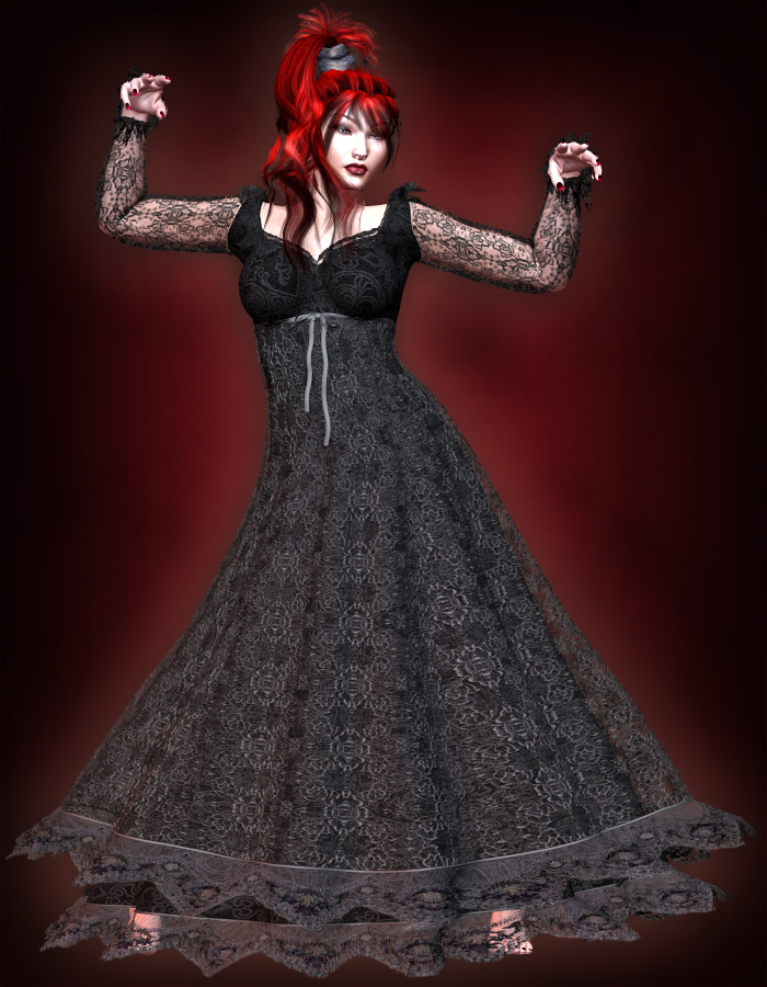 Lucia Gown for V4 by: eshaRuntimeDNA, 3D Models by Daz 3D