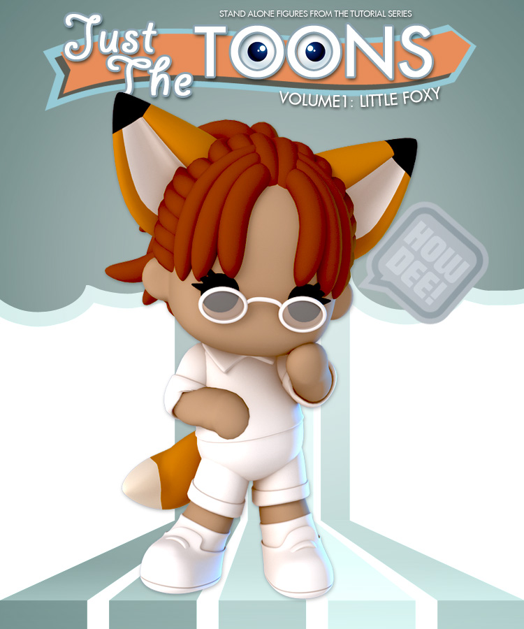 Just the Toons: Vol 1 - Little Foxy by: Lady LittlefoxRuntimeDNA, 3D Models by Daz 3D