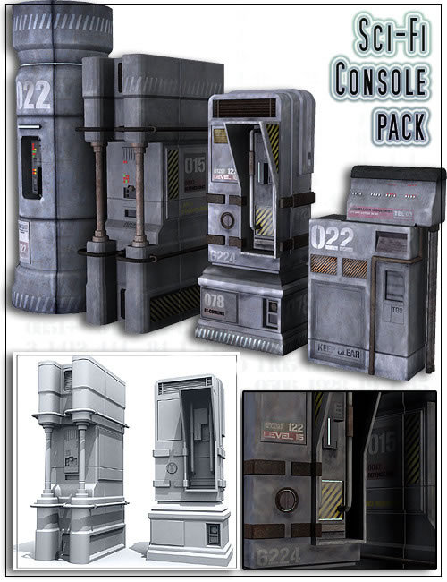 Sci-Fi Console Pack by: , 3D Models by Daz 3D