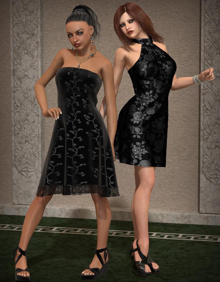 Little Black Dress for V4 by: eshaRuntimeDNA, 3D Models by Daz 3D