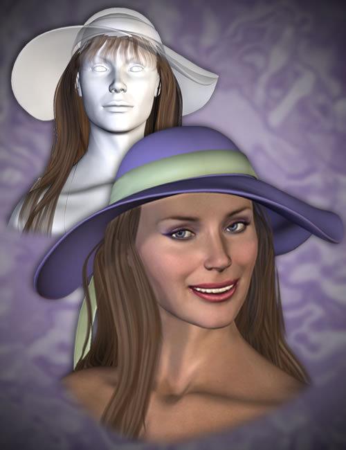 Hat Hair Props by: Lourdes, 3D Models by Daz 3D