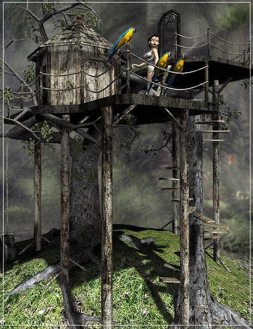 The Treehouse by: Stonemason, 3D Models by Daz 3D